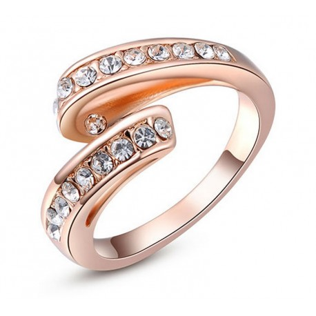 Anillo Mujer Stellux AN000057 - Baño Oro Rosa 18K