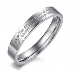 Anillo Mujer AN000117M Two Shall Be As One - Acero Inoxidable 316L
